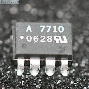HCPL-7710-300E 40ns Propagation Delay CMOS Optocoupler SMD