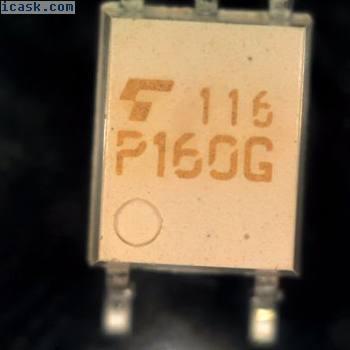 5 TOSHIBA tlp160g TIRISTOR OPTOACOPLADOR SMD SO4 p160g