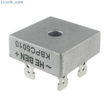 10 PCS 50A 1000V Metal Case Single Phases Diode Bridge Rectifier KBPC5010 K9U8