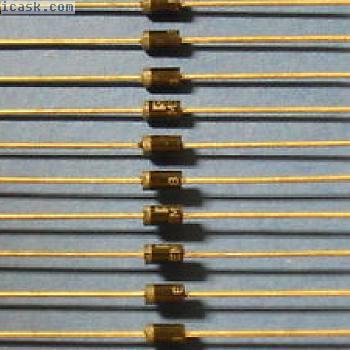 500 x EM518 Si- Hochspannungs- Dioden 2000V/1A gegurtet
