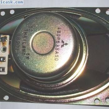 Paire de 6x4 Haut Parleur blindé Aimant 8 OHMS 5W 100x150mm 480-p-638-a-50