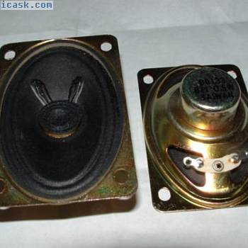 2 x small mini elliptical speaker 73 x 48mm oval 8 ohm D0133