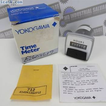 "YOKOGAWA 240211AAAB7 2.5"" Hour Time Panel Meter Type 240 (NEW in BOX) 60hz 120v"