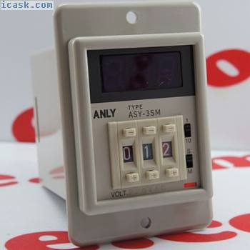ANLY MULTI-RANGE Digital Timer ASY-3SM AC220V 100%NIB