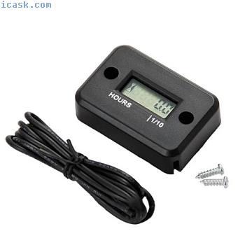 Waterproof Digital Hour Meter LCD Display For 2/4 Stroke Gas Motorcycle GL