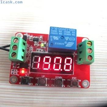12V Multi-function Self-lock Cycle PLC Timer Relay Module Delay Time Switch