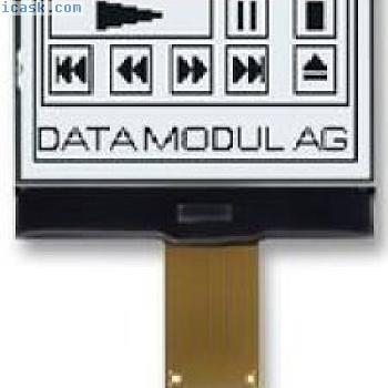 LCD Modul, 128x64, GRAFIK Teil # Batron bthq128064avd1-cog-fstf-12-ledwhite
