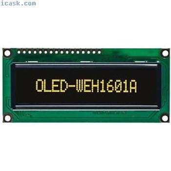Winstar WEH001601A 16x1 OLED Display, Yellow