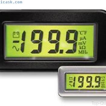 VOLTMETER, LCD, 3.5DIGIT, 200MV FSD, DPM 750S BL 9932917