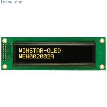 Winstar WEH002002A 20x2 OLED Display, Yellow