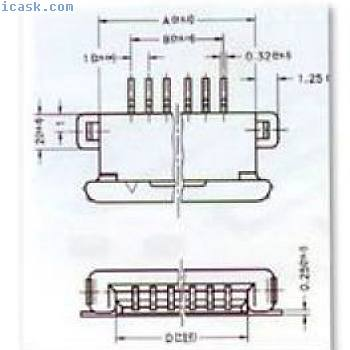 CONNECTOR, FOR LCD MODULE, BT21020 1220460