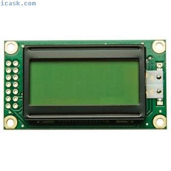 Winstar WH0802A-YYH-JT 8x2 LCD Display Yellow/green LED Backlight