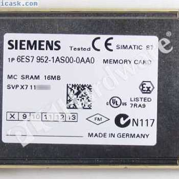 Siemens 6ES7952-1AS00-0AA0 6ES7 952-1AS00-0AA0 SIMATIC S7 MC952 Memory Card 16MB