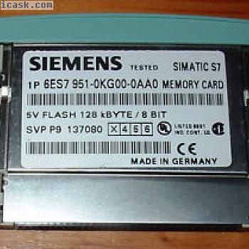 Siemens 6ES7 951-0KG00-0AA0 128KB  Memory Card  5V FLASH 6ES7951-0KG00-0AA0