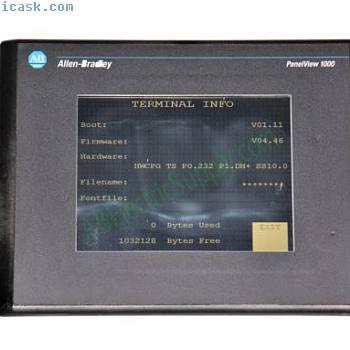 Allen Bradley Panelview 1000 2711-T10C8L1 Ser E Rev E FRN 4.46