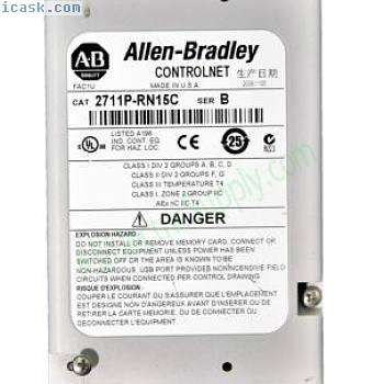 Allen Bradley 2711P-RN15C Ser B Panelview Plus ControlNET Module