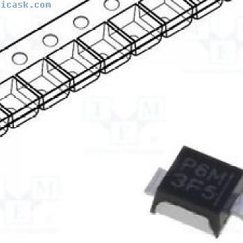 1 pcs Diode: transil; POWERMITE; Emballage: rouleau, bande; 6V
