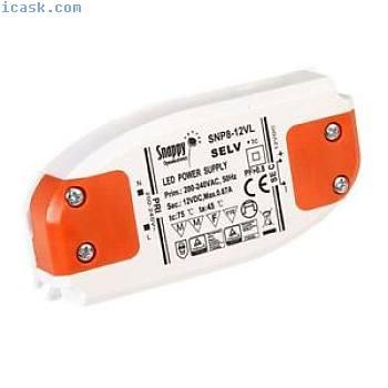 Snappy psu-snp8-24vl alimentazione elettrica 24VDC 0.33A 8W CV In-Line CST