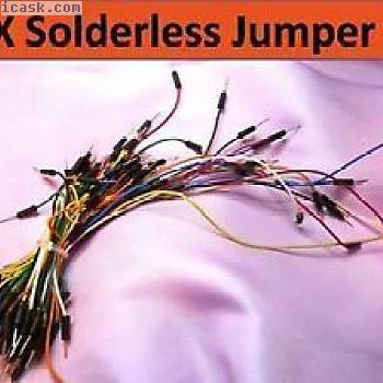 75X Solderless Breadboard Prototype Jumper Cable Wires