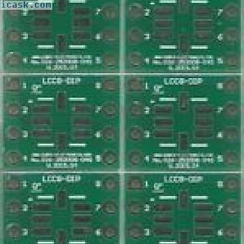 """10 Stück - Adapterplatine für LCC8 mit 1.27mm auf DIP8 0.4"""" Sockel. [DE]"""