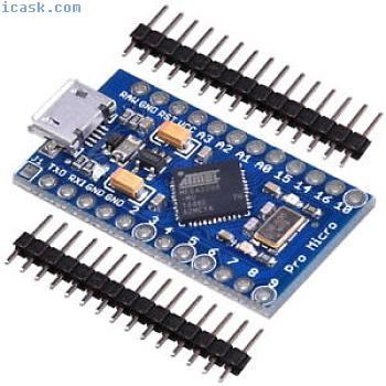 Arduino Pro Micro Leonardo compatible (ATMEGA 32U4 5V) Bord Module + Pin Header