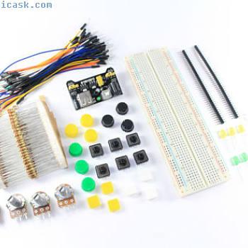 Basis-elektronik Set MB-102 830 Punkt Steckbrett Macht Jumper Flux Workshop