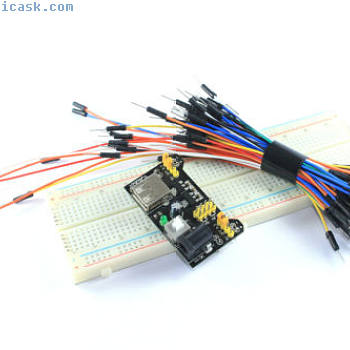 MB-102 830 Point Solderless Breadboard Power Supply 65pcs Jumper Flux Workshop