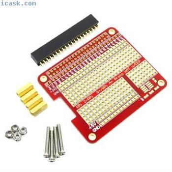 Raspberry Pi Prototyping Shield A+ B+ B Pi 2 Pi 3 GPIO SOIC Bread Flux Workshop