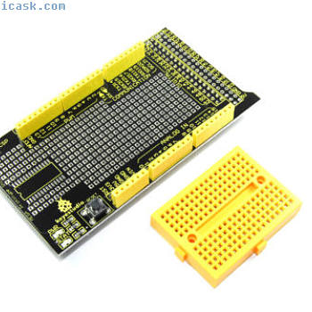 Keyestudio Arduino MEGA Prototype Shield KS-005 Breadboard Flux Workshop
