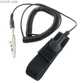 Antistatic ESD static discharge band wrist strap black W8L9