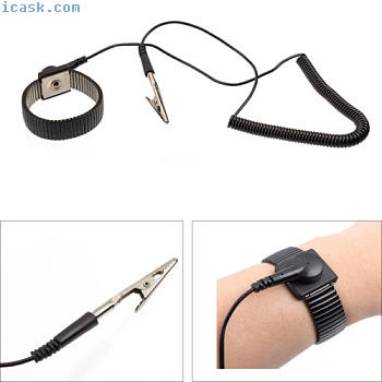 Anti Statik Armband ESD Erdungsarmband Antistatikband Handgelenk Einstellbar